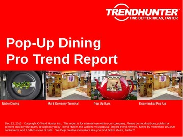 Pop-Up Dining Trend Report and Pop-Up Dining Market Research