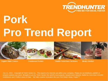Pork Trend Report and Pork Market Research