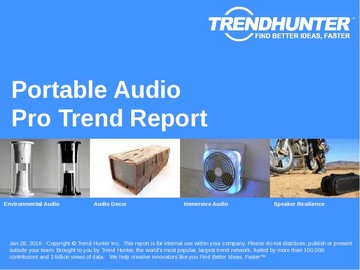 Portable Audio Trend Report and Portable Audio Market Research