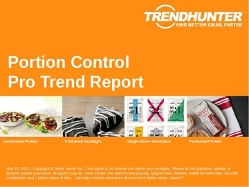 Portion Control Trend Report and Portion Control Market Research