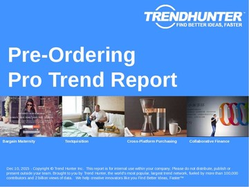 Pre-Ordering Trend Report and Pre-Ordering Market Research