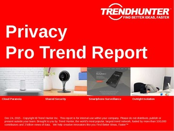 Privacy Trend Report and Privacy Market Research