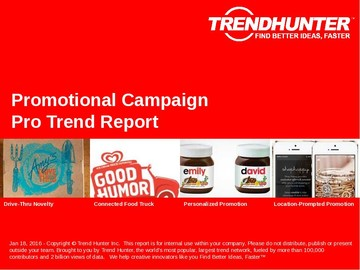 Promotional Campaign Trend Report and Promotional Campaign Market Research