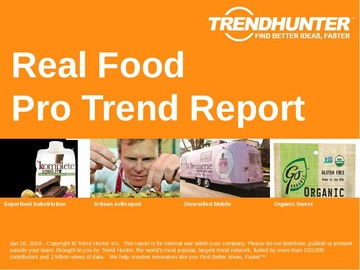 Real Food Trend Report and Real Food Market Research