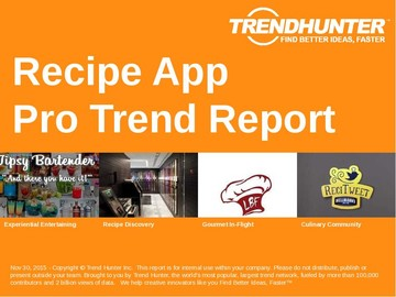 Recipe App Trend Report and Recipe App Market Research
