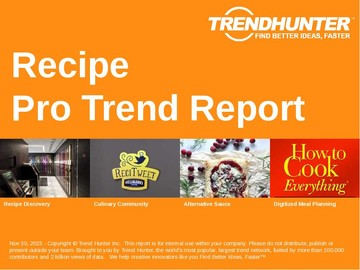 Recipe Trend Report and Recipe Market Research
