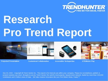 Research Trend Report and Research Market Research