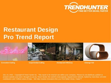 Restaurant Design Trend Report and Restaurant Design Market Research