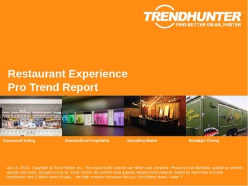 Restaurant Experience Trend Report and Restaurant Experience Market Research