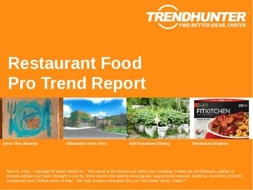Restaurant Food Trend Report and Restaurant Food Market Research