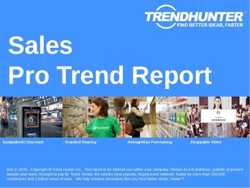 Sales Trend Report and Sales Market Research