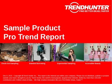 Sample Product Trend Report and Sample Product Market Research