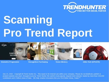 Scanning Trend Report and Scanning Market Research