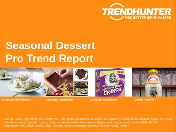 Seasonal Dessert Trend Report and Seasonal Dessert Market Research