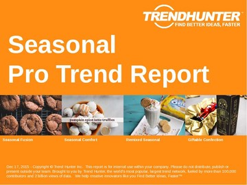 Seasonal Trend Report and Seasonal Market Research