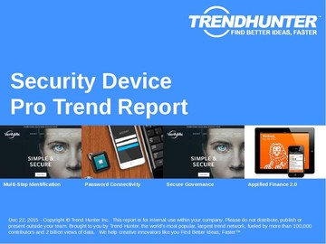 Security Device Trend Report and Security Device Market Research