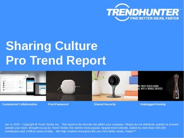 Sharing Culture Trend Report and Sharing Culture Market Research