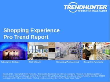 Shopping Experience Trend Report and Shopping Experience Market Research