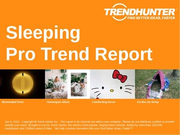 Sleeping Trend Report and Sleeping Market Research