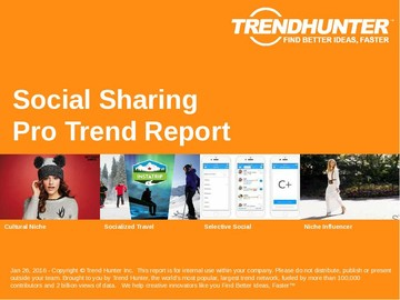Social Sharing Trend Report and Social Sharing Market Research
