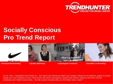 Socially Conscious Trend Report and Socially Conscious Market Research