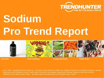 Sodium Trend Report and Sodium Market Research