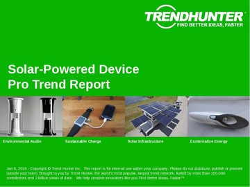 Solar-Powered Device Trend Report and Solar-Powered Device Market Research