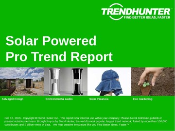Solar Powered Trend Report and Solar Powered Market Research