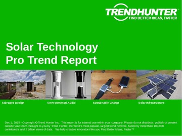 Solar Technology Trend Report and Solar Technology Market Research
