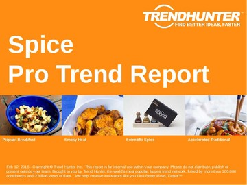 Spice Trend Report and Spice Market Research