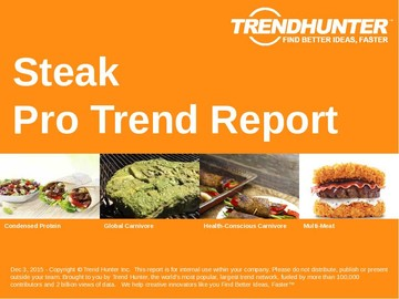 Steak Trend Report and Steak Market Research