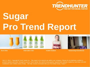 Sugar Trend Report and Sugar Market Research