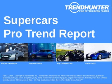Supercars Trend Report and Supercars Market Research