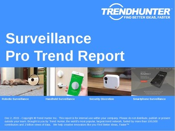 Surveillance Trend Report and Surveillance Market Research