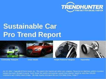 Sustainable Car Trend Report and Sustainable Car Market Research
