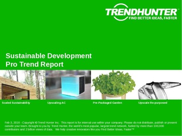 Sustainable Development Trend Report and Sustainable Development Market Research