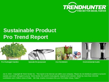 Sustainable Product Trend Report and Sustainable Product Market Research