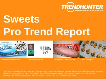 Sweets Trend Report and Sweets Market Research