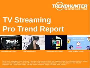 TV Streaming Trend Report and TV Streaming Market Research