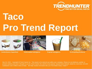 Taco Trend Report and Taco Market Research