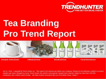 Tea Branding Trend Report and Tea Branding Market Research