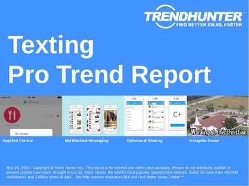 Texting Trend Report and Texting Market Research