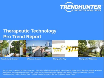 Therapeutic Technology Trend Report and Therapeutic Technology Market Research
