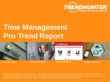 Time Management Trend Report and Time Management Market Research