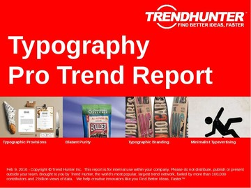 Typography Trend Report and Typography Market Research