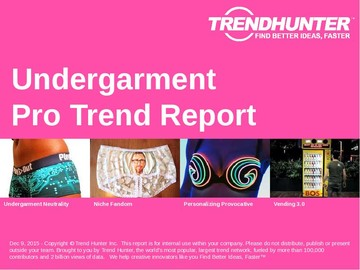 Undergarment Trend Report and Undergarment Market Research