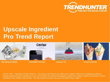 Upscale Ingredient Trend Report and Upscale Ingredient Market Research