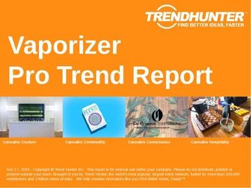 Vaporizer Trend Report and Vaporizer Market Research