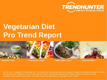 Vegetarian Diet Trend Report and Vegetarian Diet Market Research