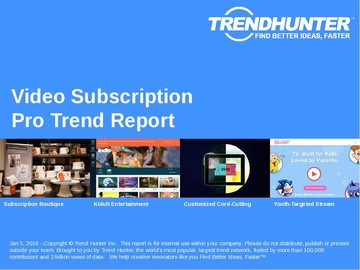 Video Subscription Trend Report and Video Subscription Market Research